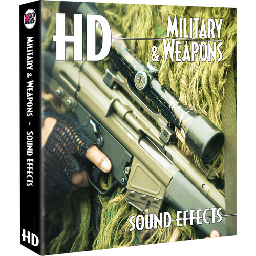 Sound Ideas Military & Weapons HD Sound Effects Hard Drive for Windows