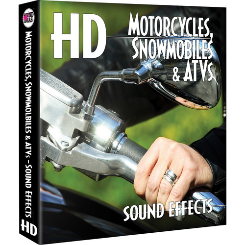 Sound Ideas Motorcycles / Snowmobiles / ATVs HD Sound Effects Hard Drive