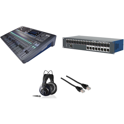 Soundcraft Si Impact FOH Mixing Kit with Stagebox, Cat5e Cable, and Headphones