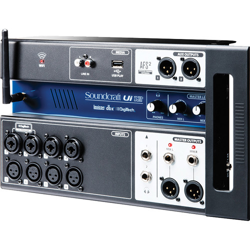 Soundcraft Ui12 12-Input Remote-Controlled Digital Mixer