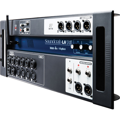 soundcraft ui16 16 input remote controlled digital mixer 5056219. Black Bedroom Furniture Sets. Home Design Ideas