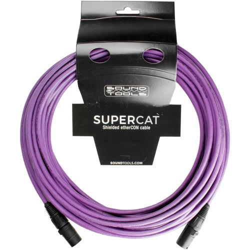 SoundTools Shielded Cat5E/Halogen Free/Flame Retardant Cable - 50' (Purple)