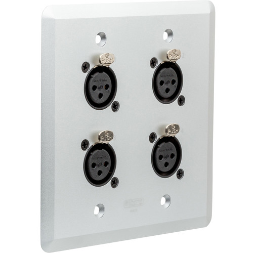 SoundTools Two Gang Wall Panel with 4 Female XLR to RJ45 (Silver)
