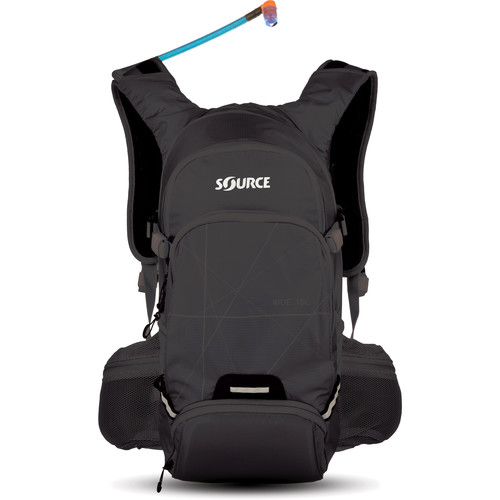 SOURCE Ride 15L Hydration Pack with 3L Reservoir (Black)