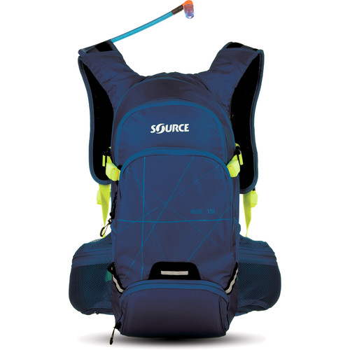 SOURCE Ride 15L Hydration Pack with 3L Reservoir (Dark Blue/Green)