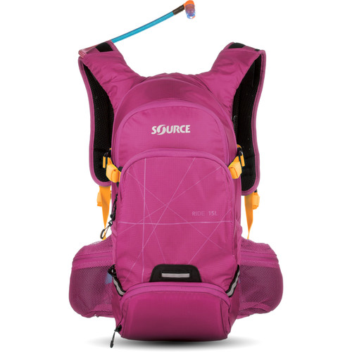 SOURCE Ride 15L Hydration Pack with 3L Reservoir (Purple)