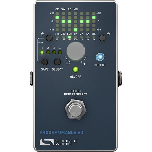 SOURCE AUDIO Toolblox Programmable EQ Pedal for Electric Guitar and Bass
