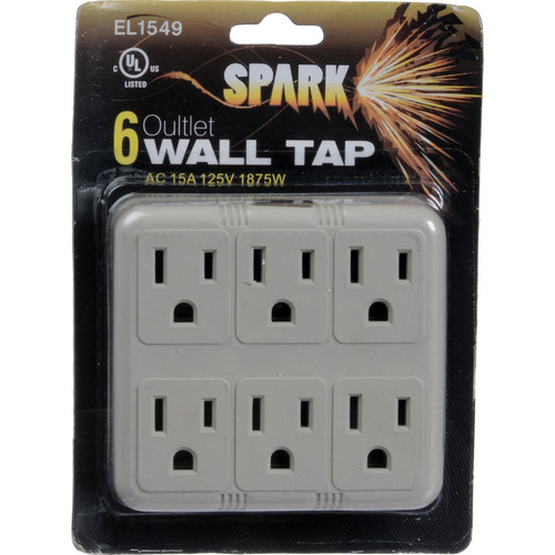 SPARK Six Outlet Wall Adapter