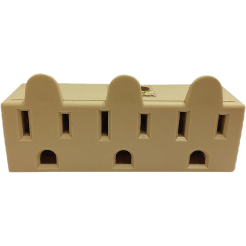 SPARK 3-Outlet Grounded Tap Adapter