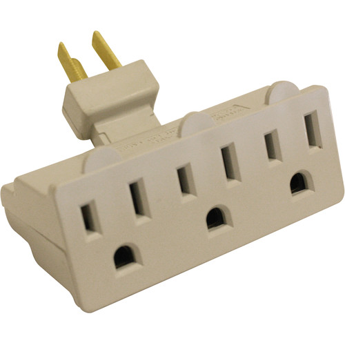 SPARK 3 Outlet Grounded Swivel Wall Tap Adapter