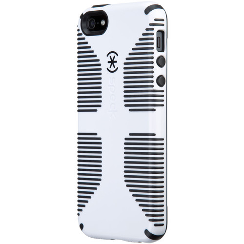 Speck CandyShell Grip Case for iPhone SE (White/Black)