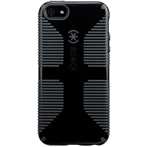 Speck CandyShell Grip Case for iPhone SE (Black/Slate Gray)