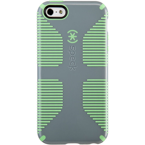 Speck CandyShell Grip Case for iPhone SE (Nickel Gray/Sweet Mint Green)