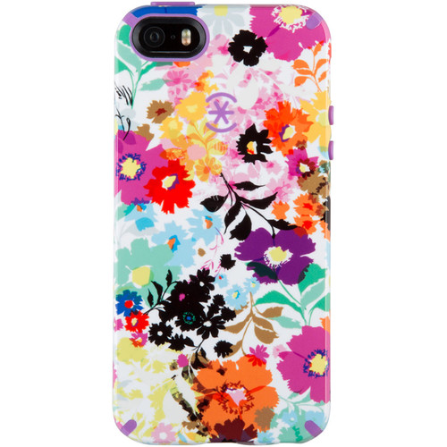 Speck CandyShell Inked Case for iPhone 5/5s/SE (Bold Blossoms/Purple)