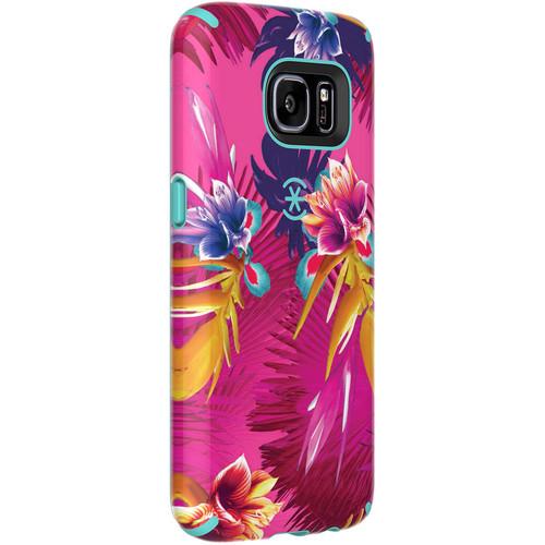 Speck CandyShell Inked Case for Galaxy S7 (Wild Tropic Fuchsia/Mykonos Blue)