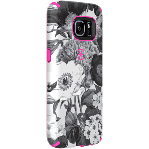 Speck CandyShell Inked Case for Galaxy S7 (Vintage Bouquet Gray/Shocking Pink)
