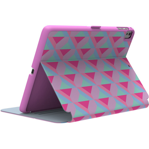 "Speck StyleFolio Case for 9.7"" iPad Pro (Playa Geo Strawberry/Fuchsia Pink/Beaming Orchid Purple)"