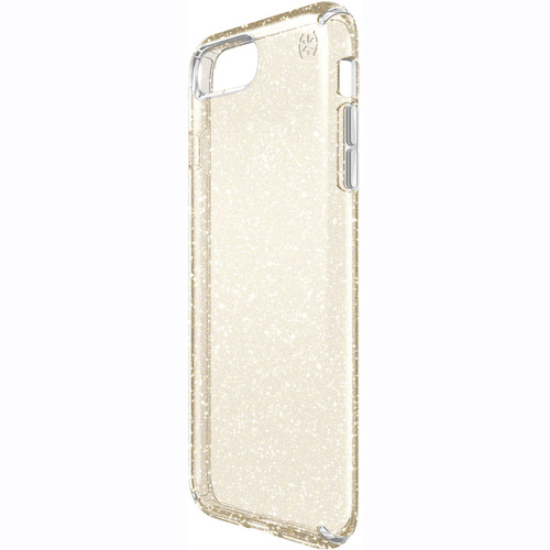 Speck Presidio Clear Glitter Case for iPhone 7 Plus (Clear with Gold Glitter)