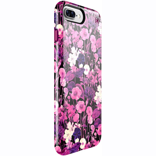 Speck Presidio Inked Case for iPhone 7 Plus (Fresh Floral Rose/Magenta Pink)