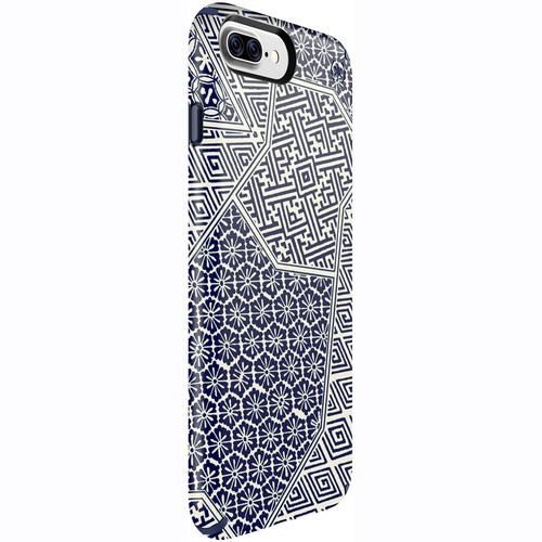 Speck Presidio Inked Case for iPhone 7 Plus (Shibori Tile Blue Matte/Marine Blue)