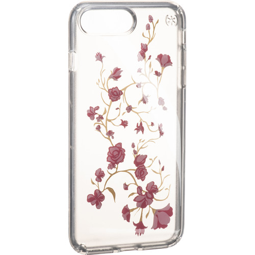 Speck Presidio Clear Print Case for iPhone 7 Plus (Golden Blossoms Pink/Clear)