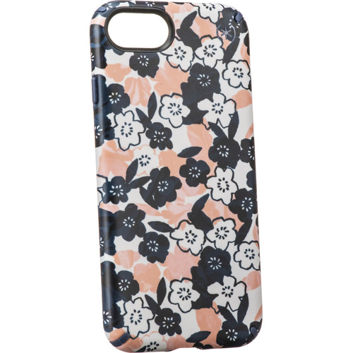Speck Presidio Inked Case for iPhone 7/8/SE (2nd Gen) (Marbled Floral Peach Matte/Marine Blue)