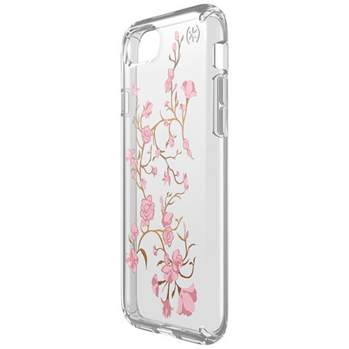 Speck Presidio Clear Print Case for iPhone 7 (Golden Blossoms Pink/Clear)