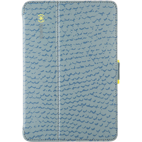 Speck StyleFolio Case for iPad mini 1, 2, & 3 (RattleSkin Gray/Anti-Freeze Yellow)