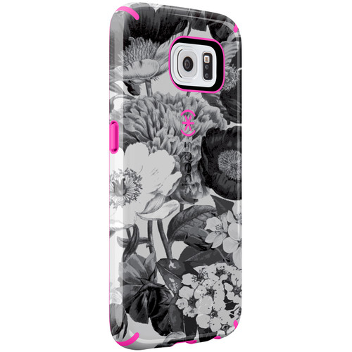 Speck CandyShell Inked Case for Galaxy S6 (Vintage Bouquet Gray/Shocking Pink)