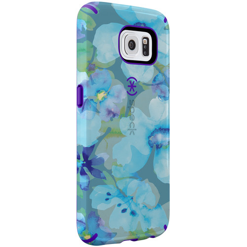 Speck CandyShell Inked Case for Galaxy S6 (Aqua Floral Blue/Ultraviolet Purple)
