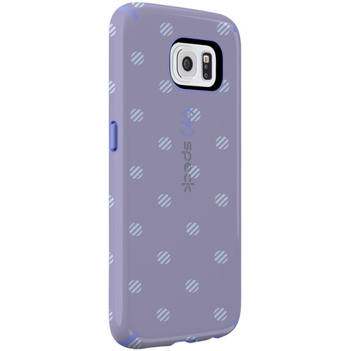 Speck CandyShell Inked Case for Galaxy S6 (Stripe Polka Heather/Wisteria Purple)
