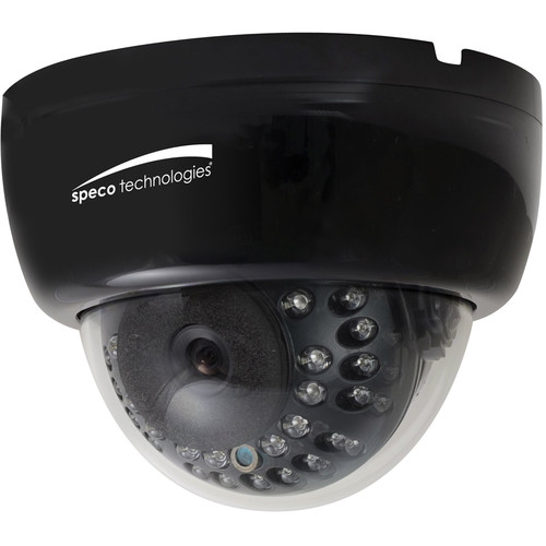 Speco Technologies 700 TVL Indoor Dome Camera with 2.8 to 12mm Varifocal Lens (Black Housing)