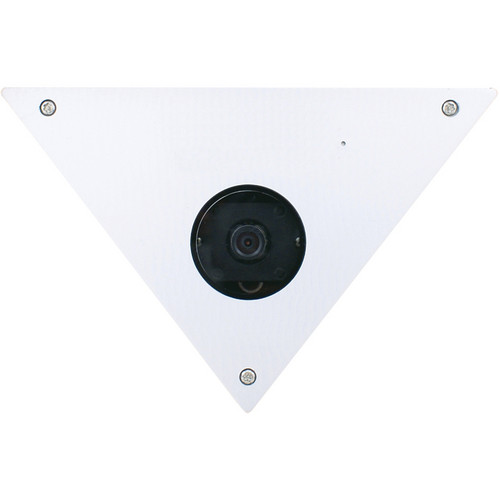 Speco Technologies CVC605CM 960H Corner Mount Color Camera with 6mm Lens (NTSC, White Stainless Steel Housing)