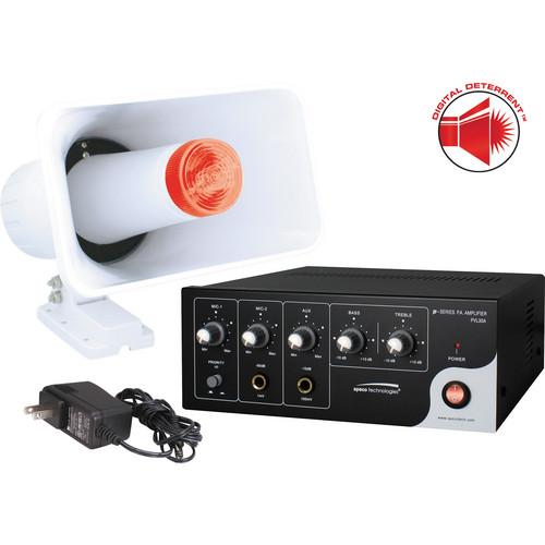 Speco Technologies Digital Deterrent Kit with 15W RMS Amplifier & Horn/Strobe Combination Speaker