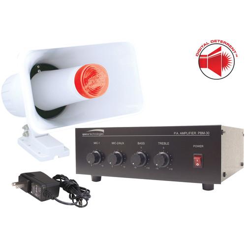 Speco Technologies DDAK3 Digital Deterrent Kit with 30W RMS Amplifier & Horn/Strobe Combination Speaker