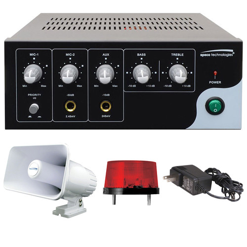 Speco Technologies Digital Deterrent Audio Kit, with PVL15A,SPC15RP, SFR12,PSW5