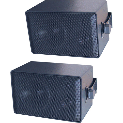 Speco Technologies DMS3P 3-Way All Weather Mini Speakers (Pair, Black )