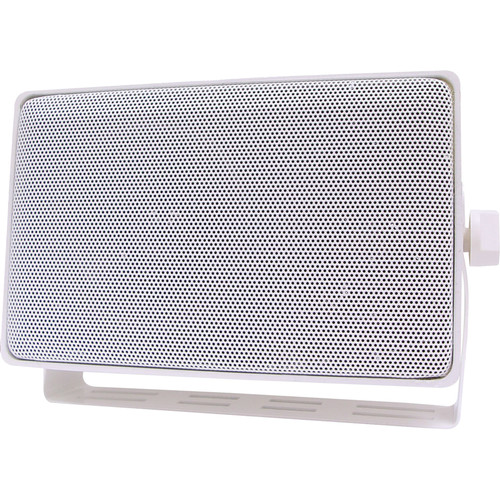 Speco Technologies DMS3TSW 3-Way All Weather Mini Speaker with Line Transformer (White)