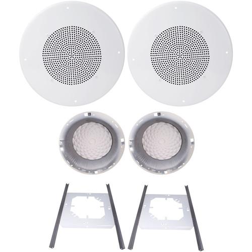 """Speco Technologies G86TG 8"""" 70/25V Classic Grille In-Ceiling Speaker Kit (Off-White)"""