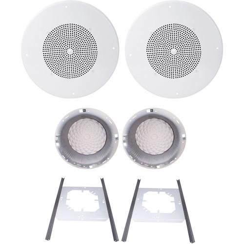 """Speco Technologies G86TCG 8"""" 70/25V Classic Grille In-Ceiling Speaker Kit (Off-White)"""