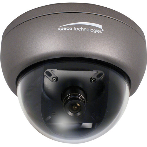 Speco Technologies IntensifierH Series Miniature Indoor/Outdoor Weather/Vandal/Tamper-Resistant Dome Camera with Chameleon Cover (Dark Gray, NTSC)