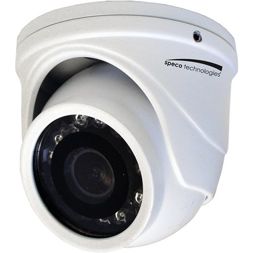Speco Technologies HT471TW 4MP Outdoor HD-TVI Mini-Turret Camera with Night Vision (White)