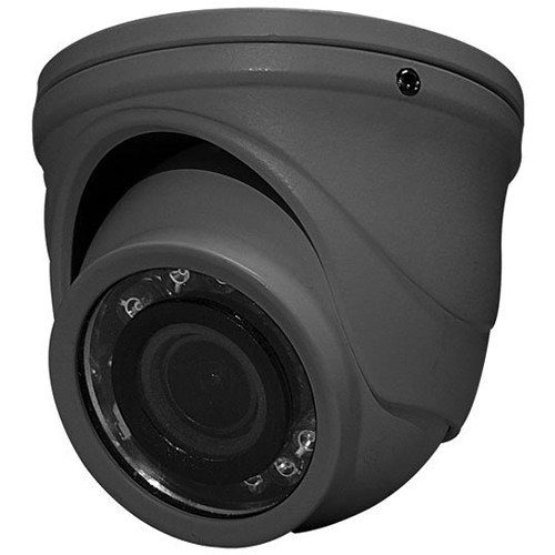 Speco Technologies HT71TG 2MP Outdoor HD-TVI Mini Turret Camera with Night Vision (Gray)