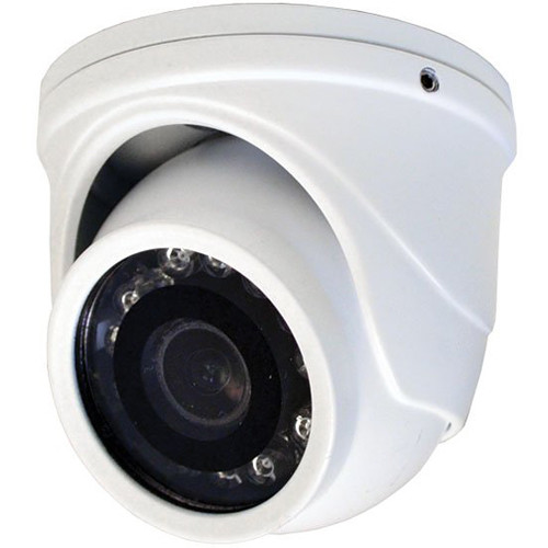 Speco Technologies HT71TW 2MP Outdoor HD-TVI Mini Turret Camera with Night Vision (White)