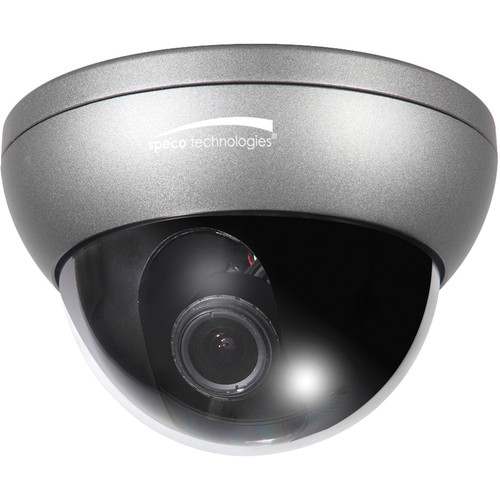 Speco Technologies Intensifier3 Series HT7248FFi Weather Resistant Dome Camera with Chameleon Cover and 2.8 to 10mm Varifocal Lens (Dark Grey)