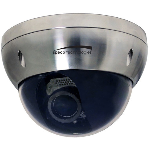 Speco Technologies Intensifier T Series 2MP HD-TVI Stainless Steel Waterproof Outdoor Dome Camera