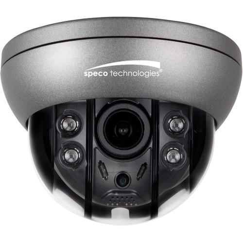 Speco Technologies 4MP HD-TVI Indoor Dome with IR/ 2.8-12mm VF Lens / 12/24V (Gray Housing)