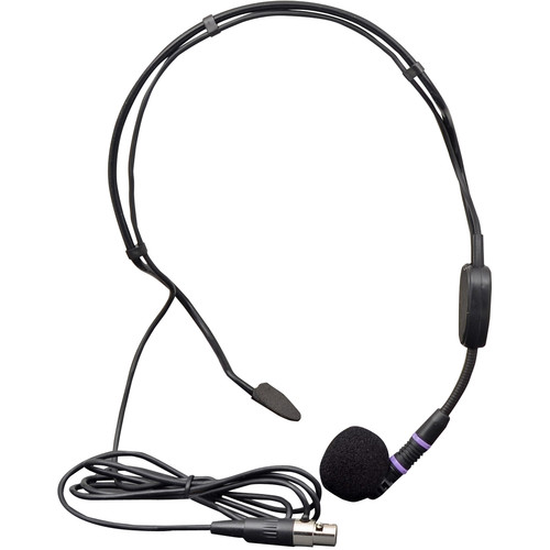 Speco Technologies M24HS Optional Headset Microphone for Bodypack Transmitter