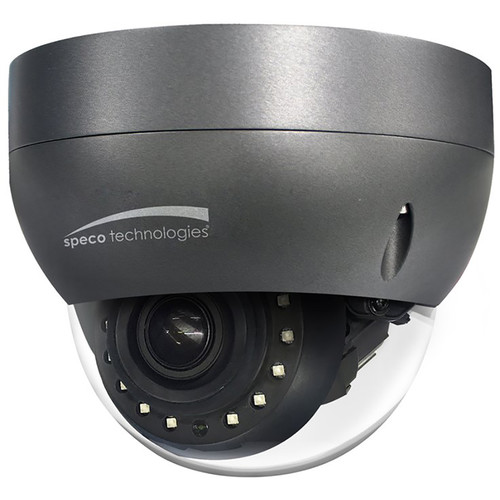 Speco Technologies 2MP H.265 Day/Night IP Dome Camera with 2.8 to 12mm Auto Iris Varifocal Lens (Dark Gray Housing)