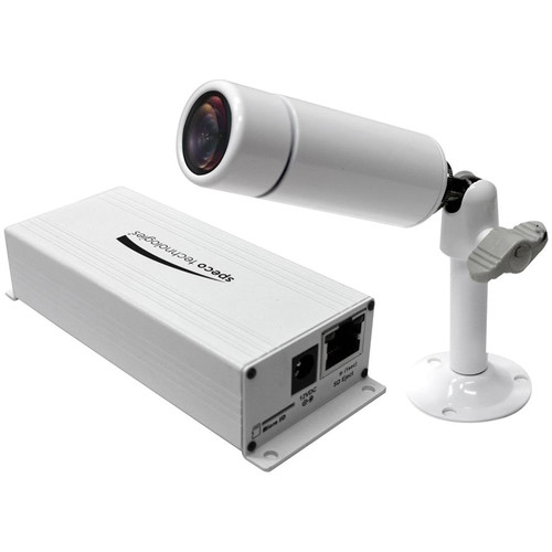 Speco Technologies O2MB1W 2 MP 1080p Indoor/Outdoor Miniature Bullet IP Camera with PoE support and 3.7mm Fixed Lens (White)